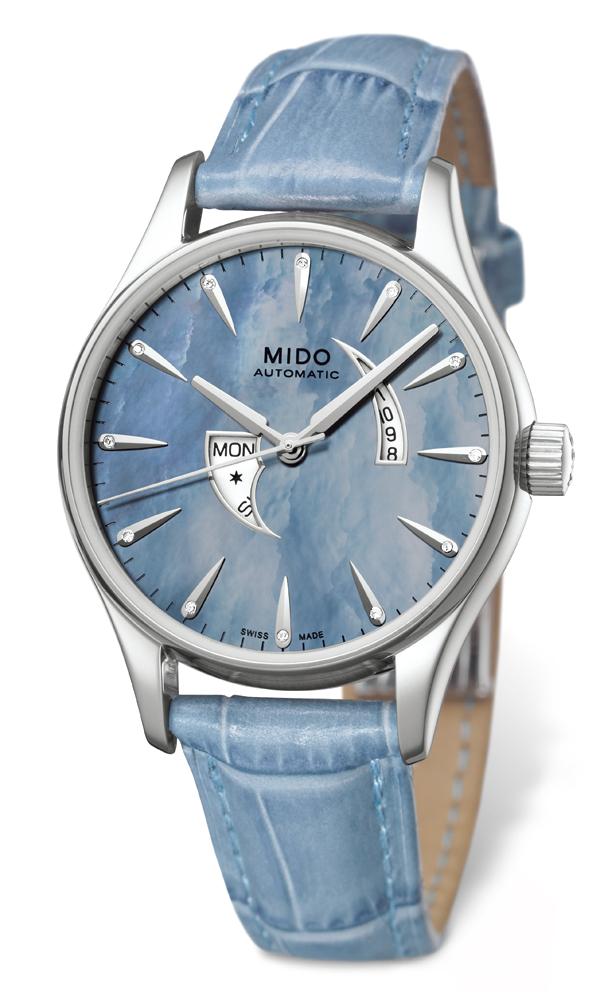 优雅蓝色:布鲁纳系列女士腕表