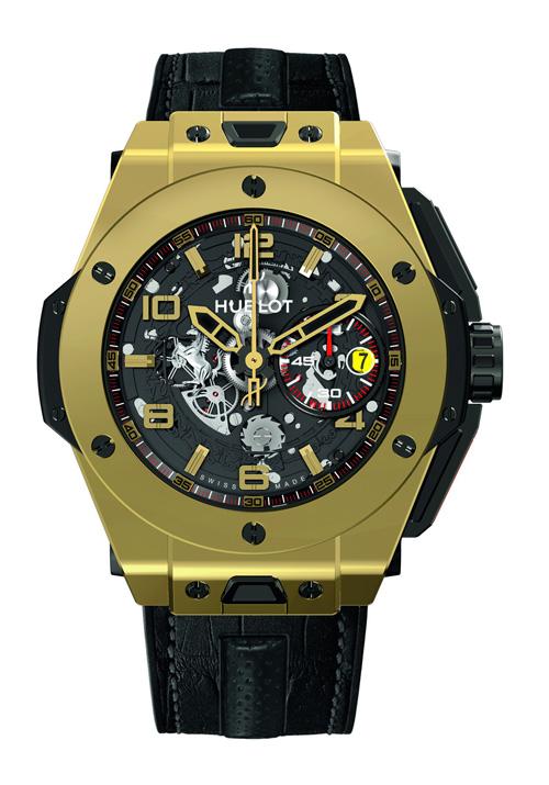 2012巴塞尔表展新品:宇舶 Big Bang 法拉利魔力金腕表
