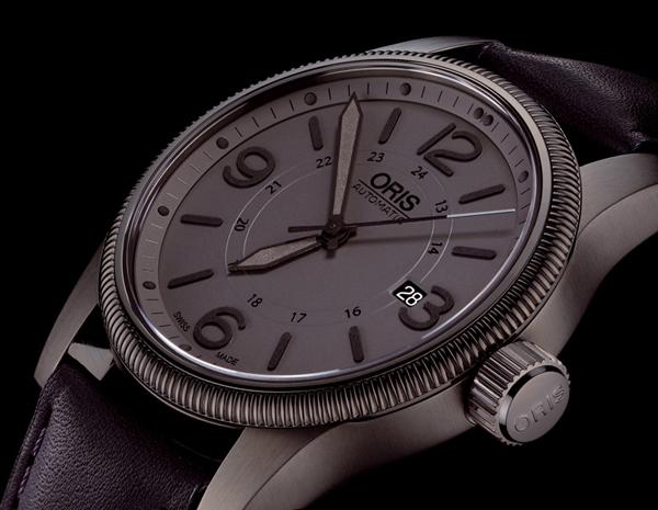 低调灰色时尚 Oris(豪利时)全新大表冠日历表