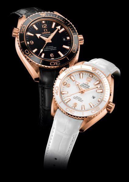 欧米茄2012巴塞尔新品-海马系列海洋宇宙Ceragold 腕表