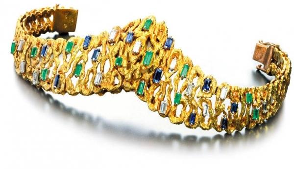 欧米茄隐匿式表盘女士珠宝腕表,1952年