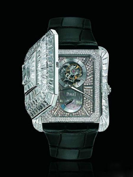 Piaget Emperador 系列白K镶T钻陀飞轮腕表