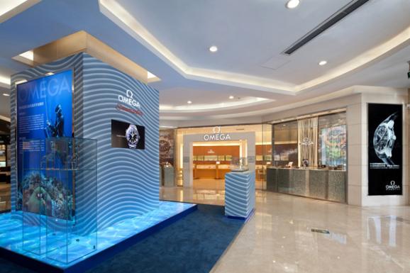 欧米茄海马系列海洋宇宙腕表展在太原王府井百货商场举行