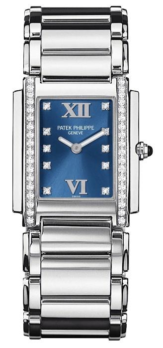 百达翡丽Patek Philippe-Twenty~4系列 4910/10A蓝 女士石英表