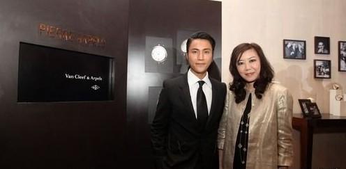 Van Cleef&Arpels梵克雅宝中国区总经理Laura Lai赖予欣女士携手陈坤发布Pierre Arpels皮埃尔·雅宝系列腕表。