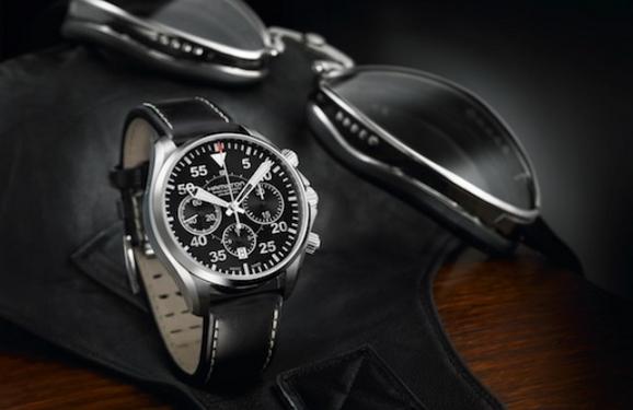 汉米尔顿卡其飞行员自动计时腕表