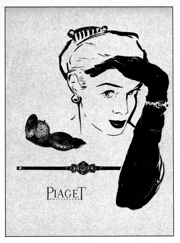 伯爵上世纪40年代的广告