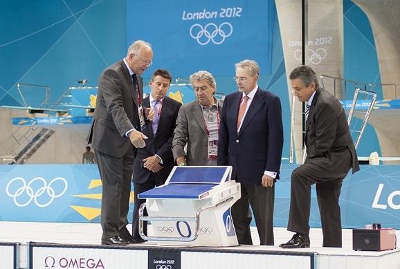 2012年伦敦奥运会指定计时的瑞士著名钟表品牌欧米茄
