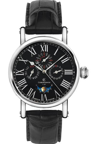 2012最新时尚手表 CH1723bk-精钢,黑色表盘