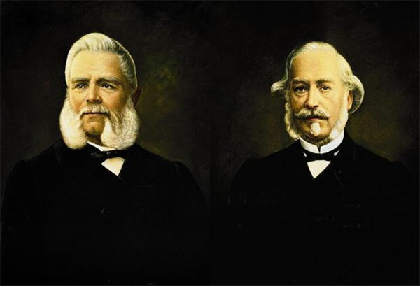 安东尼百达(AntoineNorbertDePatek)先生(左)与翡丽(AdricnPhilippe)先生(右)