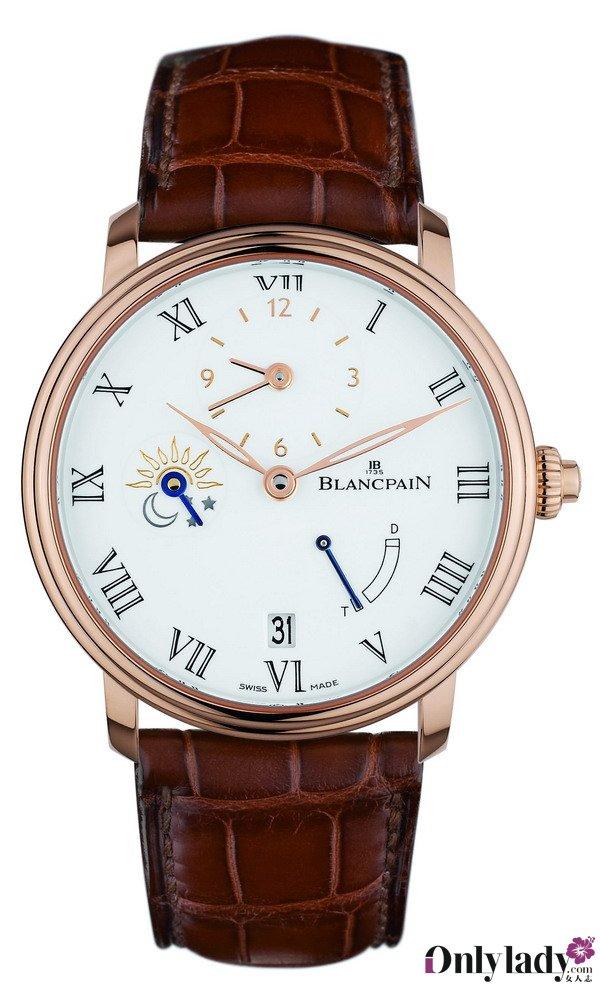 宝珀双时区时间指示Villeret 腕表