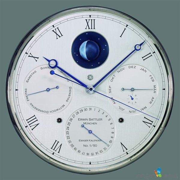 精准万年历机械钟