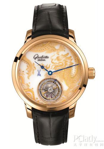 温润如玉的格拉苏蒂白瓷彩绘表盘限量腕表