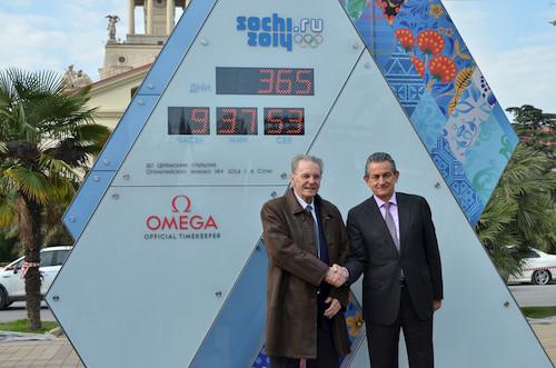 Omega欧米茄倒计时钟迎接2014年第22届索契冬奥会的到来