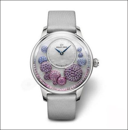 雅克德罗微绘花卉时分小针盘腕表