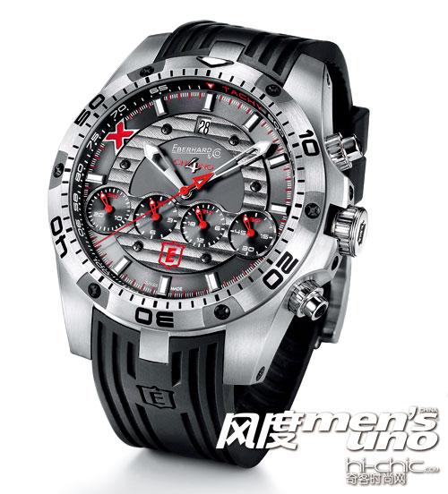 化为经典的大胆创意 艺比亨CHRONO 4 GEANT TITANE腕表