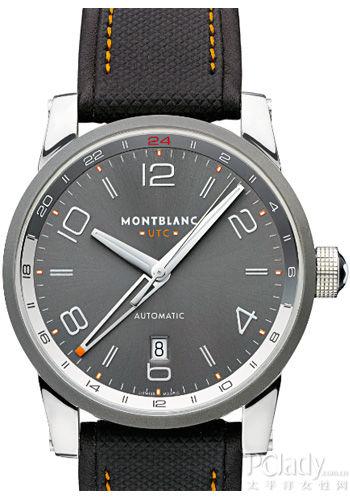 万宝龙时光行者UTC世界标准时间腕表