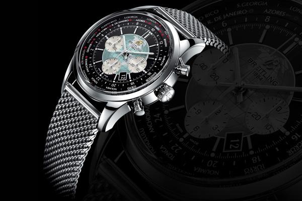 「奢华尊享」百年灵越洋世界时间计时腕表