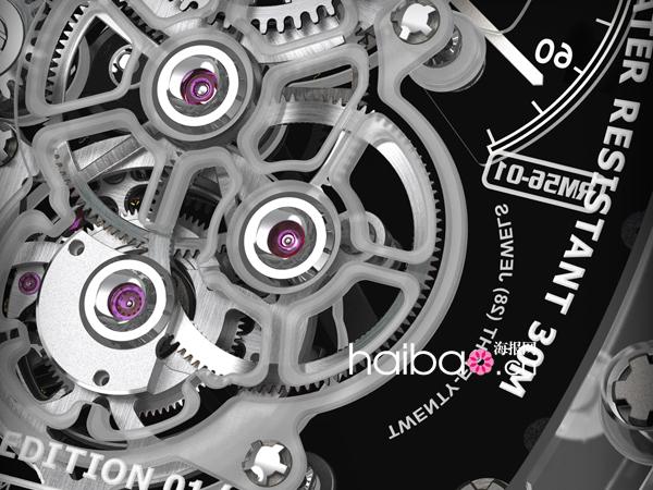 理查德·米勒(Richard Mille) RM 56-01 蓝宝石水晶陀飞轮腕表