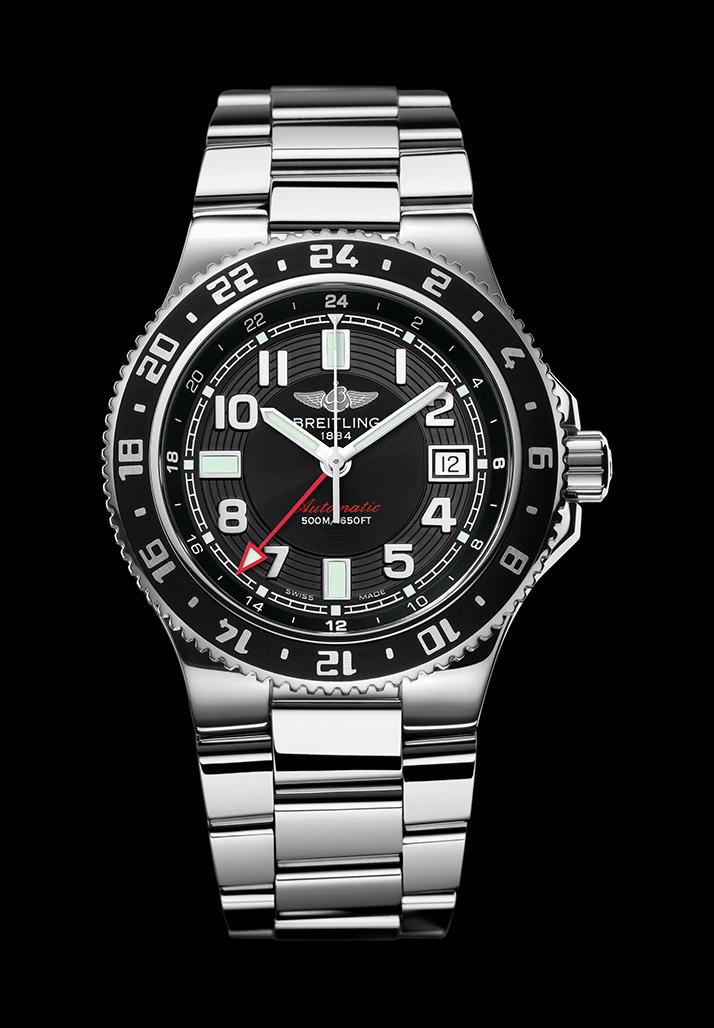 百年灵超级海洋世界时间腕表(Superocean GMT)