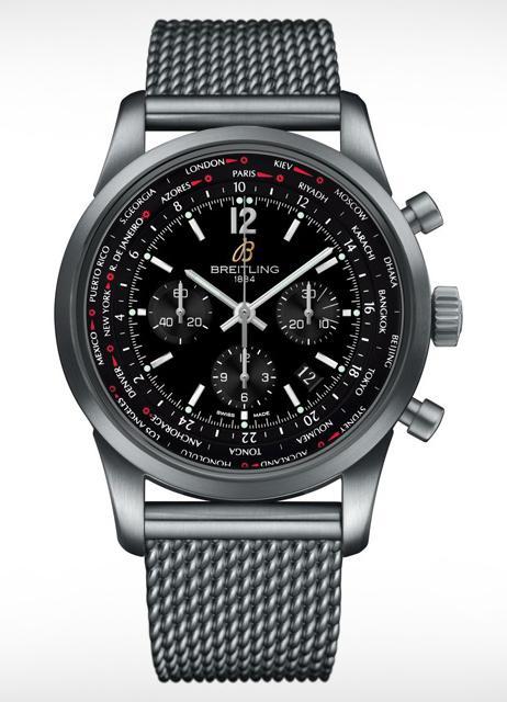 百年灵全新越洋世界时间飞行员计时腕表