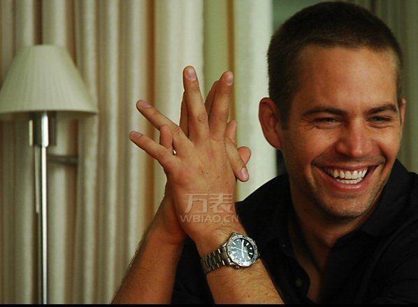《速度与激情》男主角,保罗·沃克疑似同款手表,超凡魅力,身份地位的提升