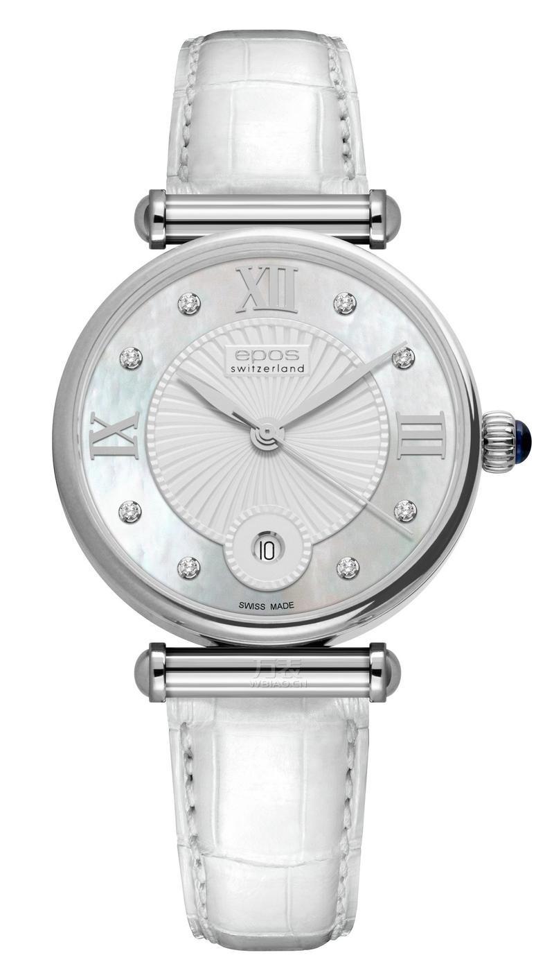 四千元左右好看的女士手表:瑞士爱宝时(EPOS)-Ladies系列 8000.700.20.88.10 女士石英表