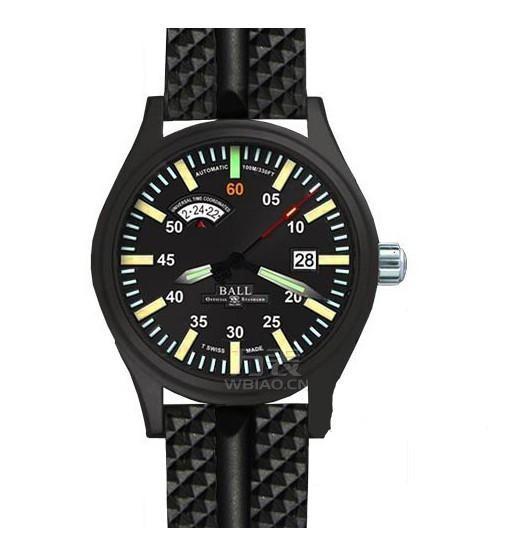 波尔战火勇士系列NM1092C-L1B-BK 橡胶表带手表