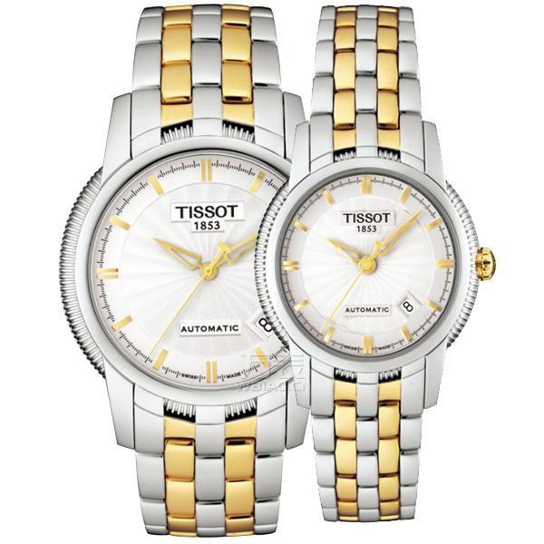 圣诞节情侣礼物--情侣手表推荐表款二:天梭TISSOT-宝环系列 T97.2.483.31、T97.2.183.31 情侣机械表
