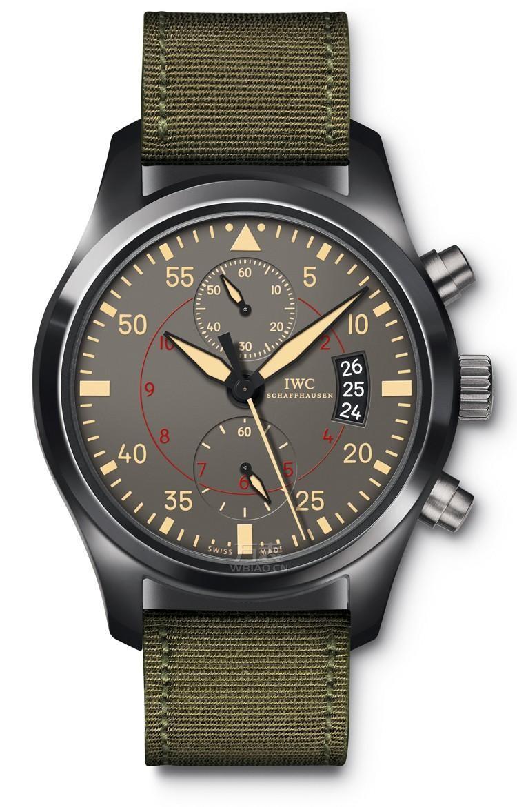 军事元素手表之空军表款:万国 IW388002 男士机械表