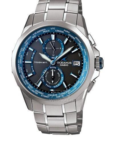 光动能手表 卡西欧 OCW-S2000-1A 男士电波表