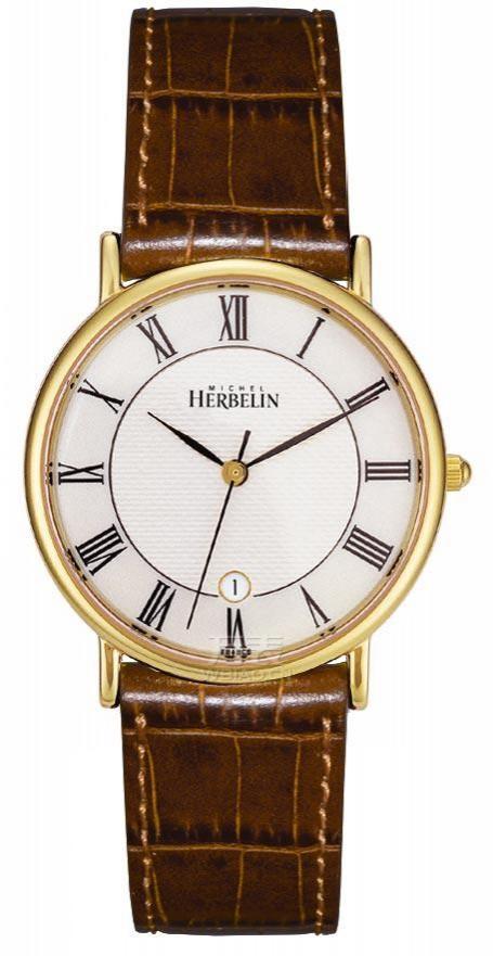 赫柏林-Classic Gents系列 12443/P08GO 男士石英表