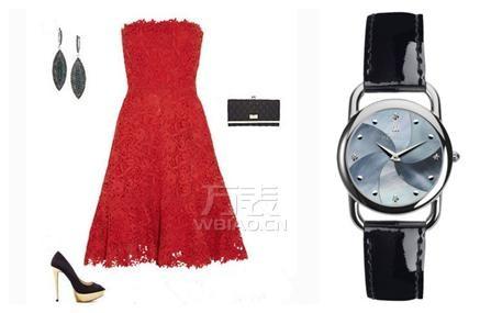 春节派对赫柏林彩色手表与服饰搭配