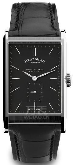 男士小表盘手表:方形表款一艾美达9680A-NR-P680NR4男士机械