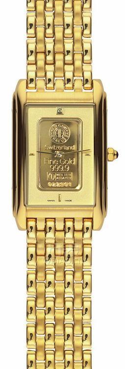 男士小表盘手表:方形表款二瑞士查梅斯 1555 男士石英表