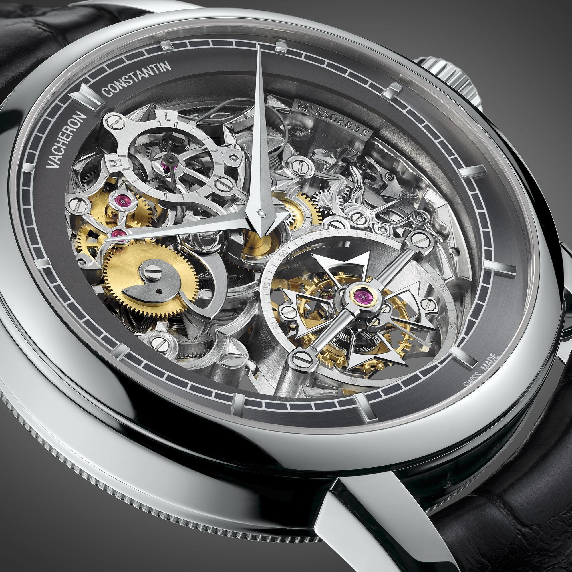 内瓦国际高级钟表展 江诗丹顿镂雕14天动力储存陀飞轮