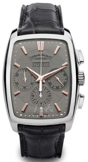 正装风格计时腕表表款三:艾美达9634A-GS-P968GR3 男士机械表