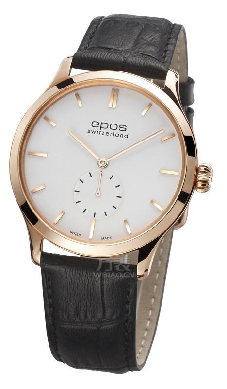 男士小秒盘腕表:瑞士爱宝时小秒盘腕表