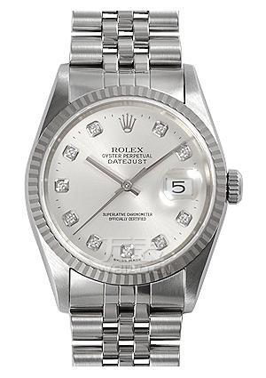 劳力士ROLEX-日志型系列 116234-G-63600银石 机械男表