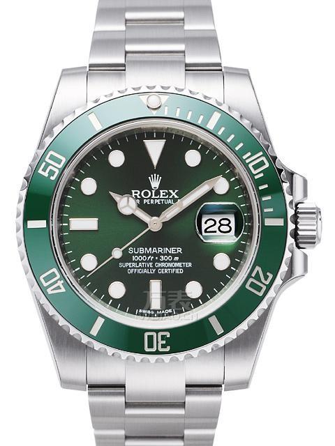 劳力士ROLEX-潜航者型系列116610-LV-97200绿机械男表