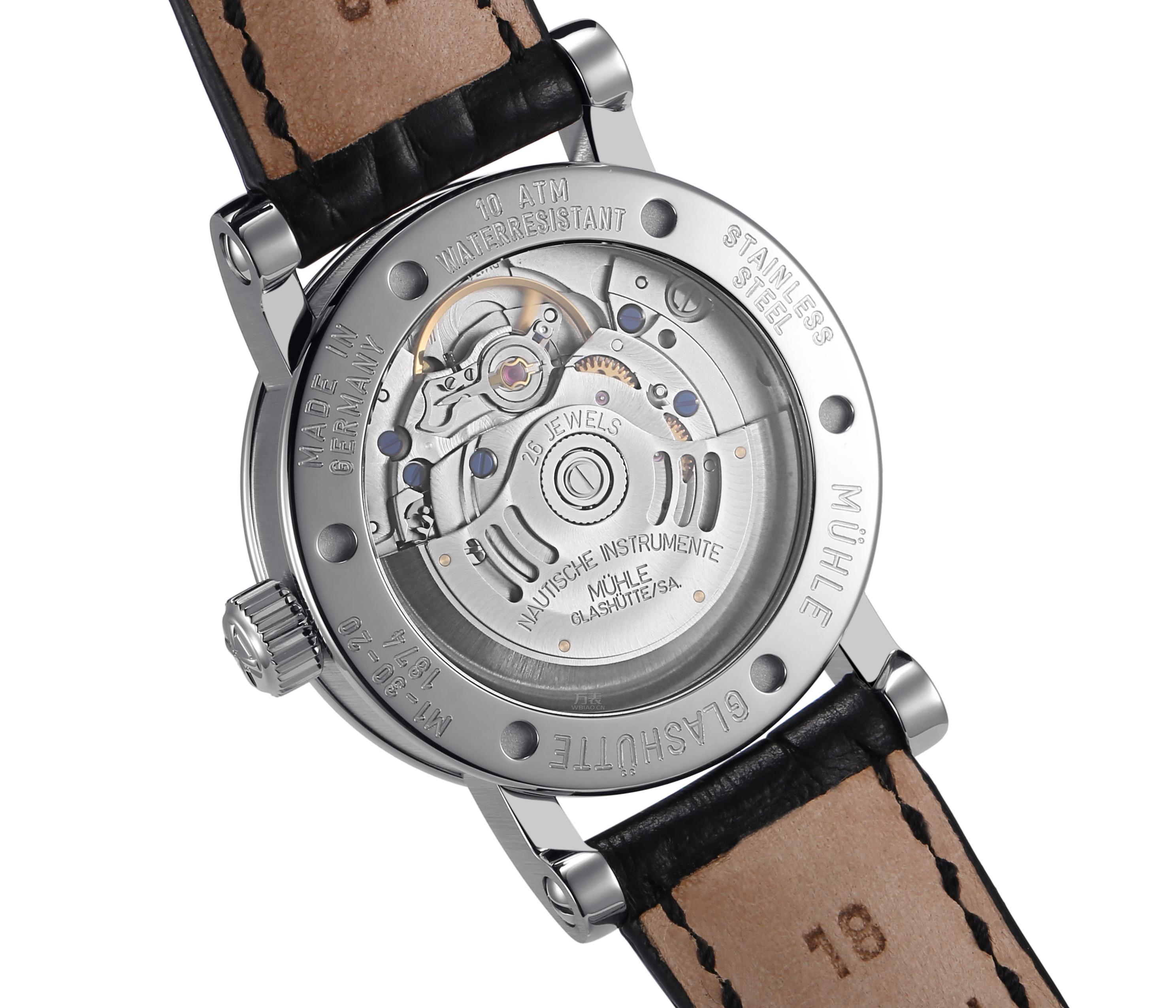 格拉苏蒂·莫勒Muehle·Glashuette-Classical Timepieces系列 M1-30-25-LB 中性机械表