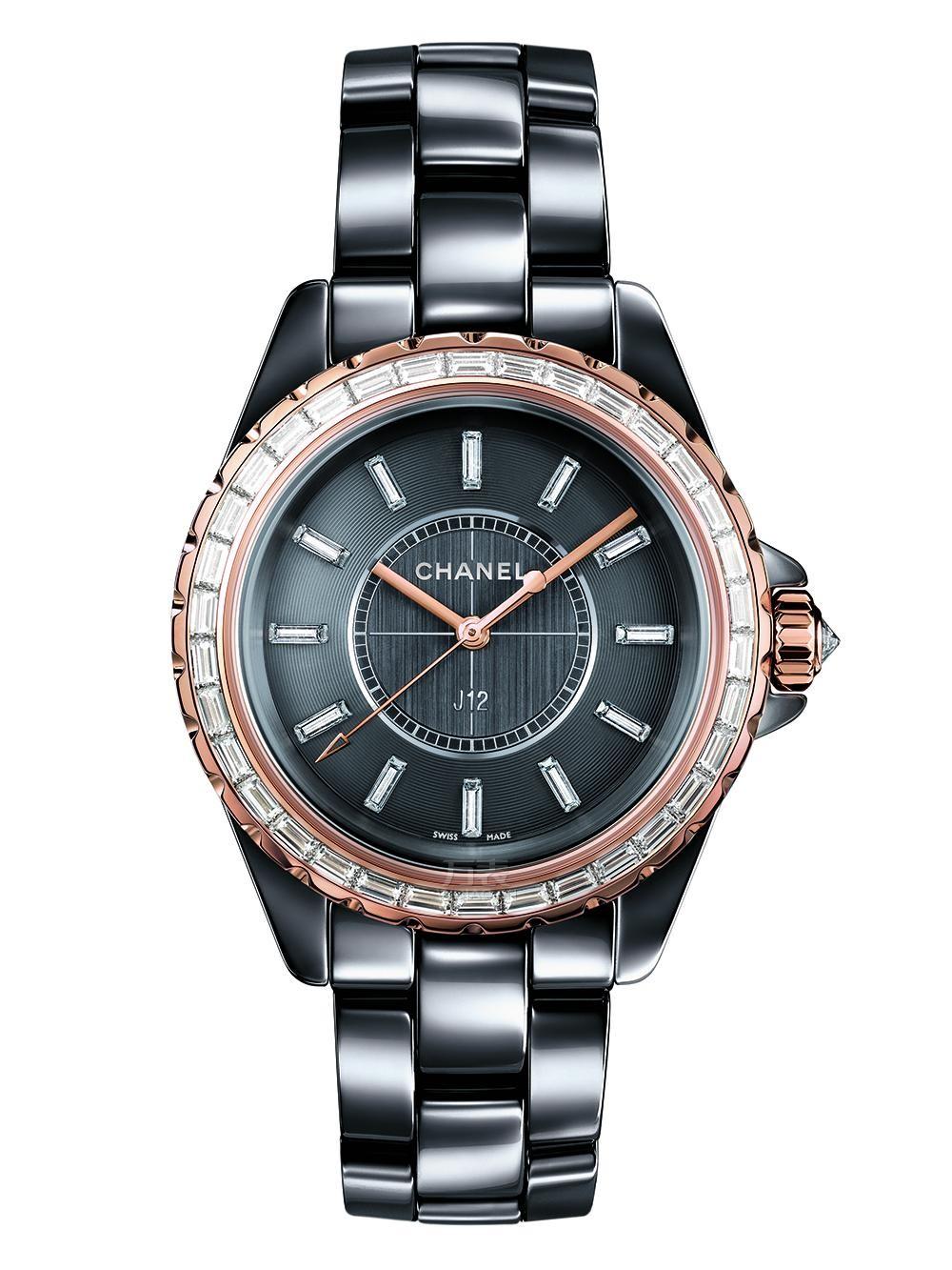香奈儿J12 Chromatic钛陶瓷珠宝腕表