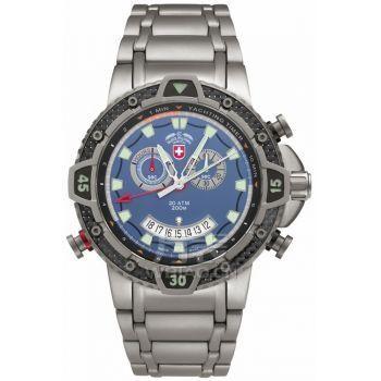 男士手表怎么选?硬朗的造型完美诠释:瑞士军表SWISS MILITAR-海洋Marine系列 2482 男士潜水表
