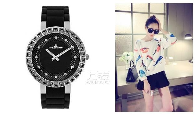 买什么样的手表好?黑色经典表盘,表圈镶嵌水晶为你腕间添魅力