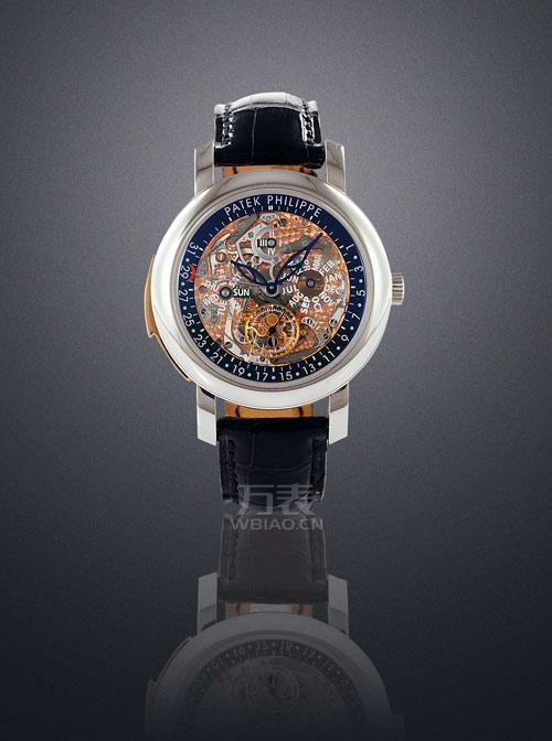 百达翡丽镂空手表图片