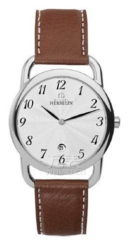 浅棕色皮质表带手表推荐 万表网赫柏林与你秋天有个约会