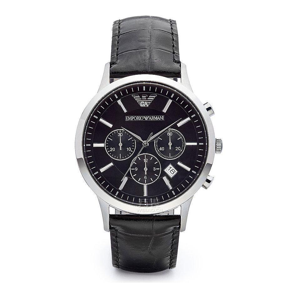 阿玛尼三眼手表说明,使用、功能超详细大全