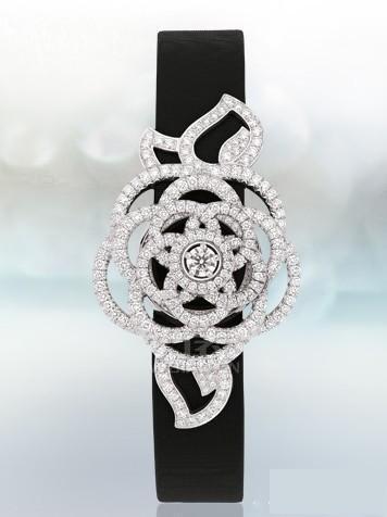 香奈儿18K白金镶钻系列腕表