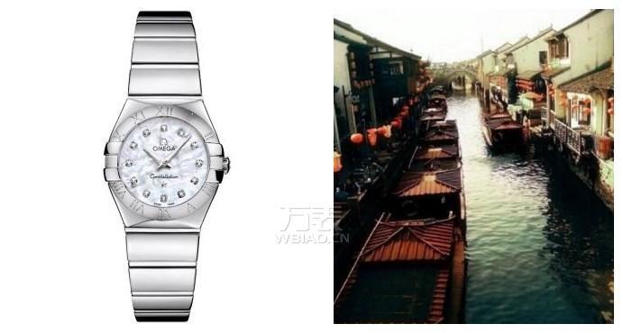 女士高档手表怎么样?白色珍珠贝母表盘饰有钻石小时刻度