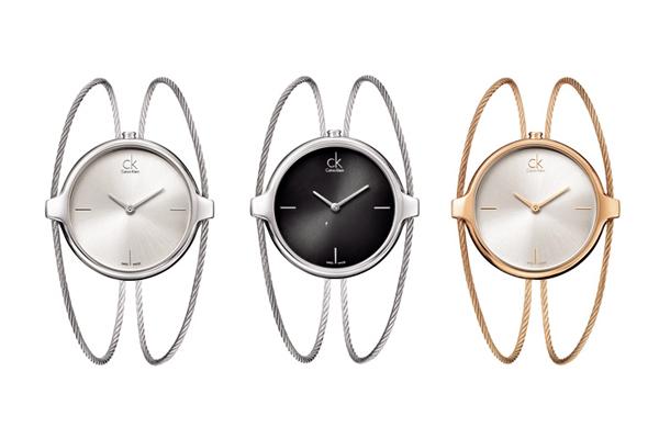 ck的手镯式手表,领略属于知性女性的一抹风情